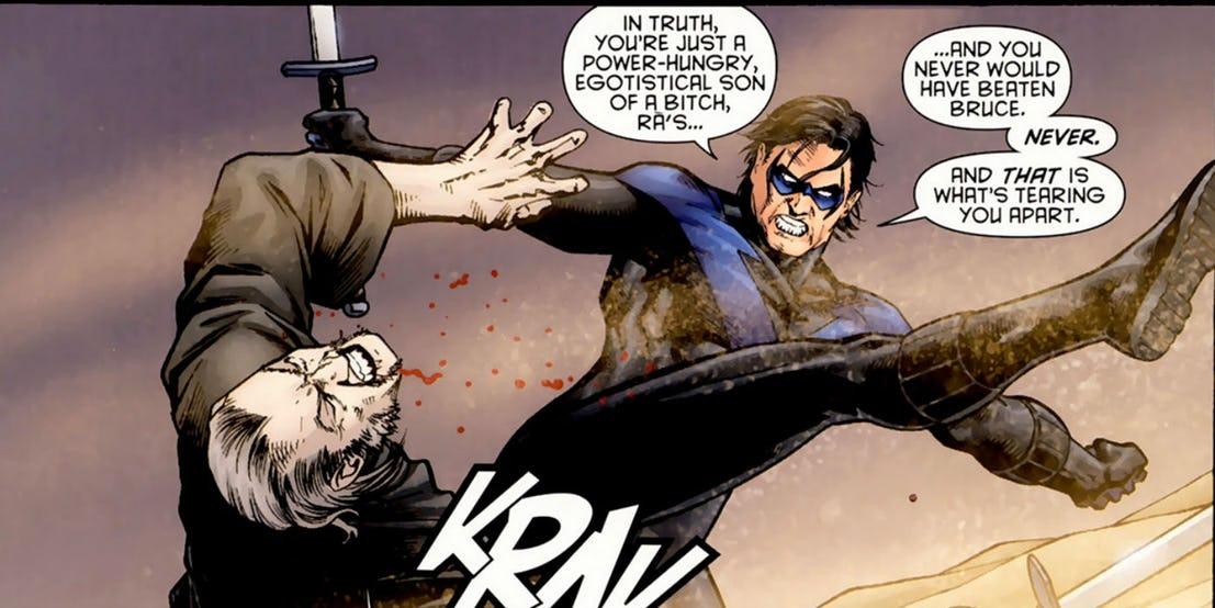 Dick Kicks Ra's In The Face